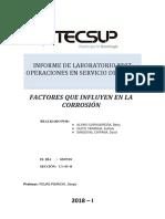 Corrosión -  factores que influyen