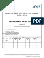 Non Conformance Control Procedure