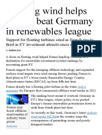 Floating Wind Helps France Beat Germany in Renewables League