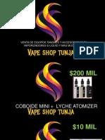 Vape Shop Tunja-febrero 2019