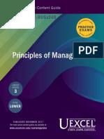 Gautam Exam Content Guide Principles of Management