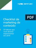 Checklist mkt de conteúdo