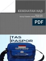 Presentasi Isi Tas Pasport Haji