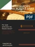 Articulação Na Flauta Doce