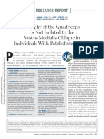 Atrophy of the Quadriceps is Not Isolated to the Vastus Medialis Oblique in Individuals With Patellofemoral Pain