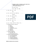 Cuestionario de química sobre hidrocarburos