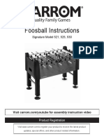 Foosball Instructions Signature Series