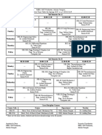 course timetable