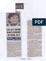 Philippine Daily Inquirer, May 20, 2019, Defective VCMS Lipa City Mayor wants recounts vs Vilma Ally.pdf