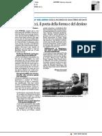 Ercole Bellucci, il poeta della forma e del destino - Il Resto del Carlino del 18 maggio 2019