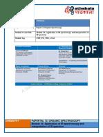 Application of IR Spectroscopy and Interpretation of IR Spectrum