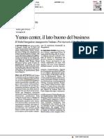 Yunus centre, il lato buono del business - Il Resto del Carlino del 19 maggio 2019