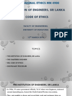 Session 03-Uom 2019 - Iesl Code of Ethics-A