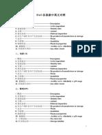 农药FAO检测指标术语中英文对照