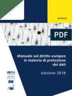 Manuale sul diritto europeo in materia di protezione dei dati