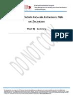 Course 3 - ESM W01 Summary