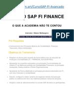 Curso SAP FI Avançado - Como funciona - Academia SAP - SAP Finance