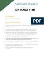 Curso SAP S/4 HANA FIORI - Academia SAP - Curso SAP