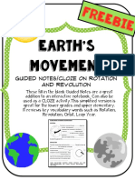 Rotation and Revolution Movement Gaps