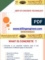 Advancement of Concrete Technology