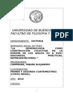 Seminario Anual de Tesis - La Demonología Como Construcción Colectiva (Campagne) - 1c 2019