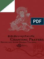 Chanting Prayer Bfr n Aft Dharma Teaching