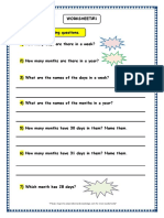 Grade 3 Maths Worksheets Calendars 1.Docx