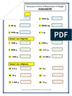 Grade 3 Maths Worksheets Conversion of Units of Measurement of Length 5