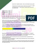 Bloco 2 Aula 30 a 33 Equilíbrio Químico Iônico Lei Da Diluição Kw PH e POH