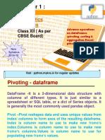 Advance Operations on Dataframes