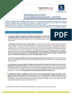 Annexe CP - Résultats Du Sondage EDP -Avril 2019