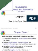 Describing Data, Numerical