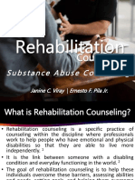 Rehabilitation Counselling for Substance Abuse