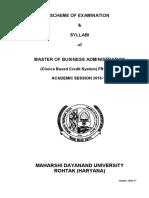 MBA(G) SOE Syllabus Cbcs Mdu 2016 17