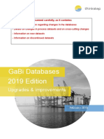 GaBi Database 19 -Upgrades and Improvements