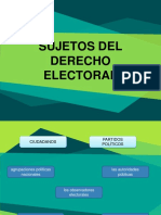 Sujetos Del Derecho Electoral