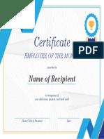 Employe Certificate