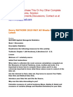 Devry MATH399 2019 MAY All Weeks Discussions Latest