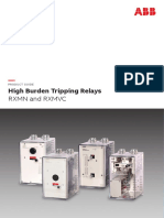 High Burden Tripping Relay RXMN & RXMVC41