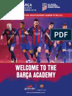 2017 Barca Academy Residential Brochure 1