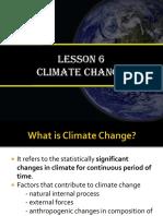 Lesson 6. Climate Change