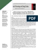 Journal of Entomology and Zoology Studies