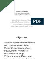Types of Study Designs