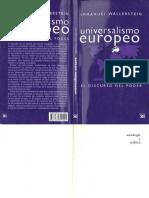 WALLERSTEIN IMMANUEL Universalismo europeo (1).pdf