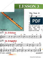 Recorder Lesson 3