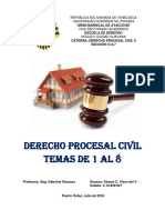TEMAS 1 AL 8 PROCESAL CIVIL II