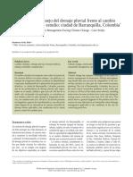 Perspectiva Del Manejo Del Drenaje Pluvial Frente Al Cambio Climatico (Bogota)