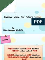 Pasive Voice for Future Tense