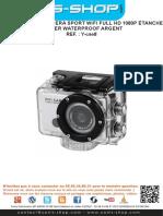 Mode d'emploi Camera sport WiFi Full HD 1080P étanche boitier waterproof argent