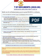 Documents Requirements - Clg (2019-20)